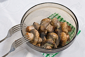 Shashlick Ot Mushrooms. Stock Images - Image: 7015884