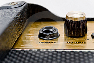 Input Socket And Volume Control Stock Images - Image: 7016944