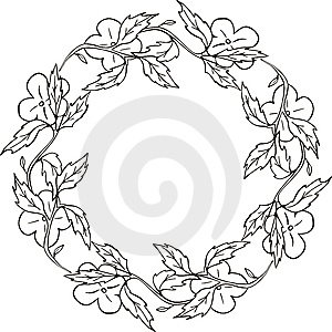 Floral Frame Series Stock Photo - Image: 7017040