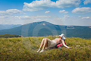 Happy Hiker Royalty Free Stock Image - Image: 7018056
