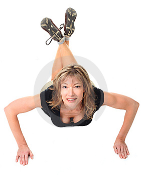 Woman Doing Push Ups Stock Photo - Image: 7018250