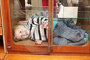 Smiling Child In Box Stock Images - Image: 7020834