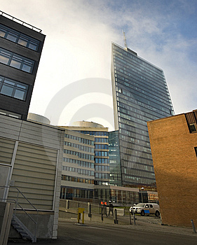 Office Buildings In Fog Royalty Free Stock Image - Image: 7023166