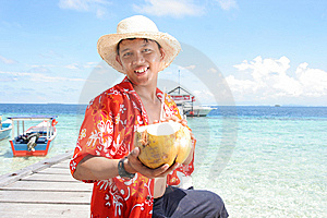 Onthaal Bij Tropisch Strand Royalty-vrije Stock Afbeelding - Afbeelding: 7025056