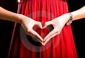 Gesture On Red Stock Photo - Image: 7025670