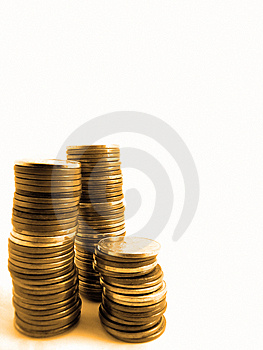 Stacks Of Pennies Stock Photos - Image: 7026033