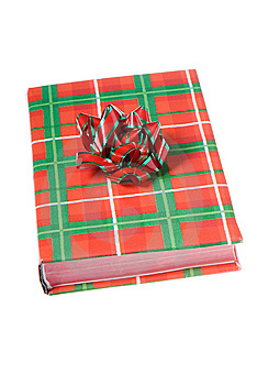 Book Christmas Colors Red Green Bow Stock Photos - Image: 7026083