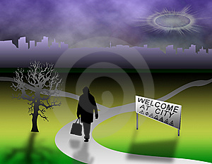 Welcome City Royalty Free Stock Images - Image: 7027229