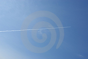 Jet Plane In The Sky Royalty Free Stock Images - Image: 7028869