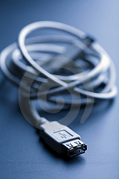 Usb Cable Toned Blue Stock Photography - Image: 7029162