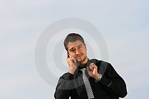 Talking On The Phone Stock Photos - Image: 7030463