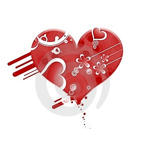 Gruge Red Valentine Heart Stock Images - Image: 7032034