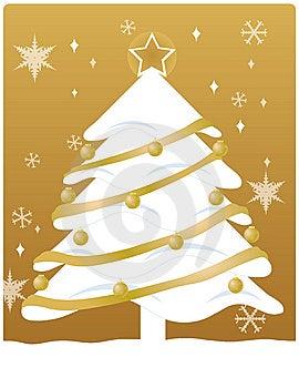 Natale dell'oro Immagini Stock