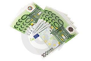 Euro Banknotes (isolated) Stock Photography - Image: 7033262