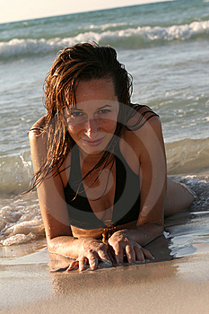 Woman In Bikinis On The Beach Stock Photography - Image: 7037072