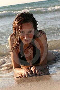 Woman In Bikinis On The Beach Stock Photography - Image: 7037072