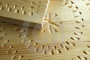 Woodcarving Handwork Stock Image - Image: 7037801