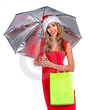 Santa Girl Royalty Free Stock Photos - Image: 7043098