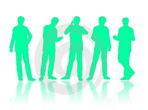 Businessmen Silhouettes Stock Photo - Image: 7043240