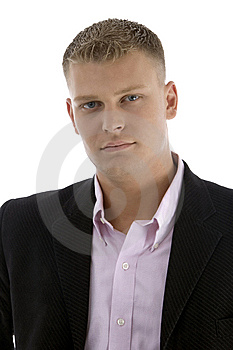 Portrait Of Young Handsome Ceo Royalty Free Stock Image - Image: 7044436