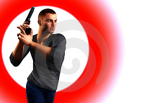 Undercover Cop With Gun Stock Image - Image: 7046431