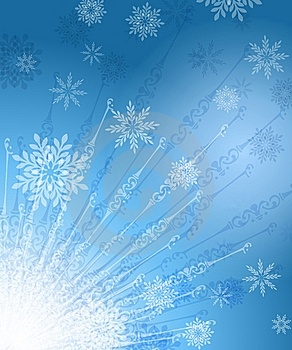 Radiating Snowflakes Background