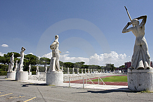 Sports Ground With Sculptures Royalty Free Stock Photos - Image: 7052178