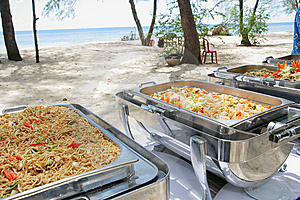 Buffet Lunch In The Island Stock Photography - Image: 7052512