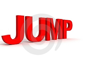 Rendered Alphabets Of Jump Stock Image - Image: 7052811