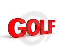 Side View Of Golf Word Royalty Free Stock Photo - Image: 7053045
