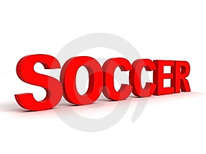 Side View Of Soccer Word Stock Photo - Image: 7053120