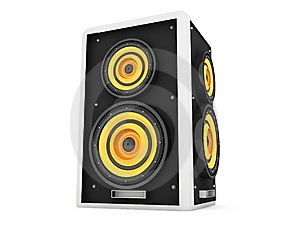 Three Dimensional Front View Of Loud Speaker Royalty Free Stock Image - Image: 7053176