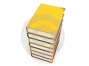 Three Dimensional Pileup Books Royalty Free Stock Photos - Image: 7053438