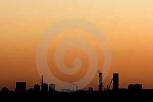 Colorful Urban Scenery Sunset. Stock Image - Image: 7057631
