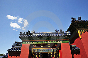 Chinese Ancient Building With Red Wall And Glaze Stock Photography - Image: 7058002