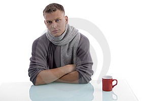 Handsome Male With Coffee Mug Royalty Free Stock Photos - Image: 7058108