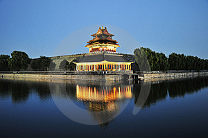 Night Piece Of Chinese Ancient Building Royalty Free Stock Photos - Image: 7058938