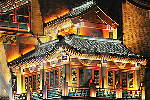 Night Scene Of Chinese Ancient Building Stock Images - Image: 7059734