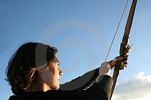 Bow and arrow Free Stock Image