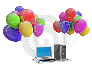 PC Workstation Gift Stock Images - Image: 7061884