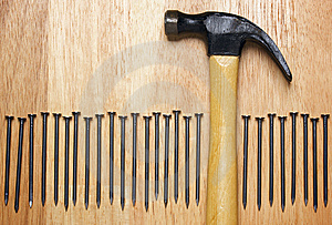 Hammer And Nails Abstract Royalty Free Stock Photography - Image: 7063717