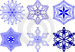 Snowflakes Collection Royalty Free Stock Image - Image: 7063906