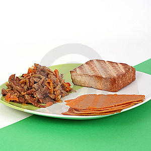 Vegetarian Meal, Healthy Lifestyle Royalty Free Stock Image - Image: 7064476