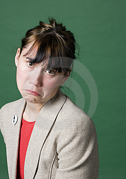 Portrait Of A Young Woman With Sad Face Stock Images - Image: 7065104