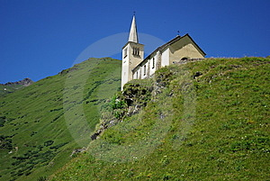 Church On A Hill Stock Photo - Image: 7065180