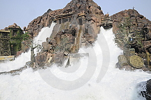 Flush Waterfalls Stock Image - Image: 7066441