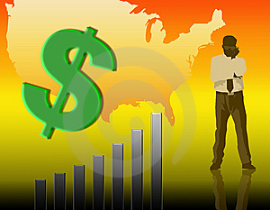 Illustration On The Rise In The Dollar Chart Stock Photos - Image: 7067973