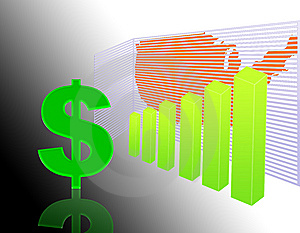Rise Dollar Stock Images - Image: 7068114