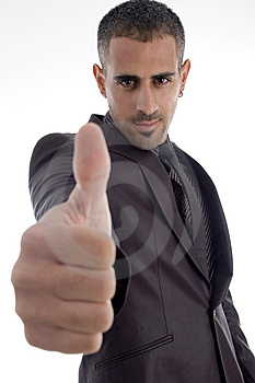 Man Showing Thumb Up Royalty Free Stock Photography - Image: 7068437