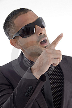 Handsome Male Pointing With Finger Royalty Free Stock Images - Image: 7068439